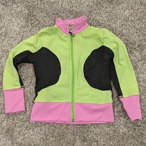 LIMEAPPLE stretchy zip up yoga jacket sz 5 5/$25